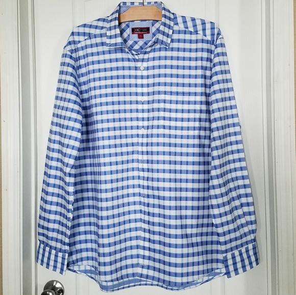 Johnston & Murphy Other - NWOT John & Murphy blue white plaid dress shirt